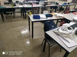 נזילות בבית הספר ארלוזורוב. צילום: מוטי בליצבלאו