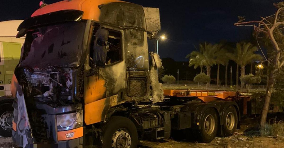 שריפת משאית בקרית ים