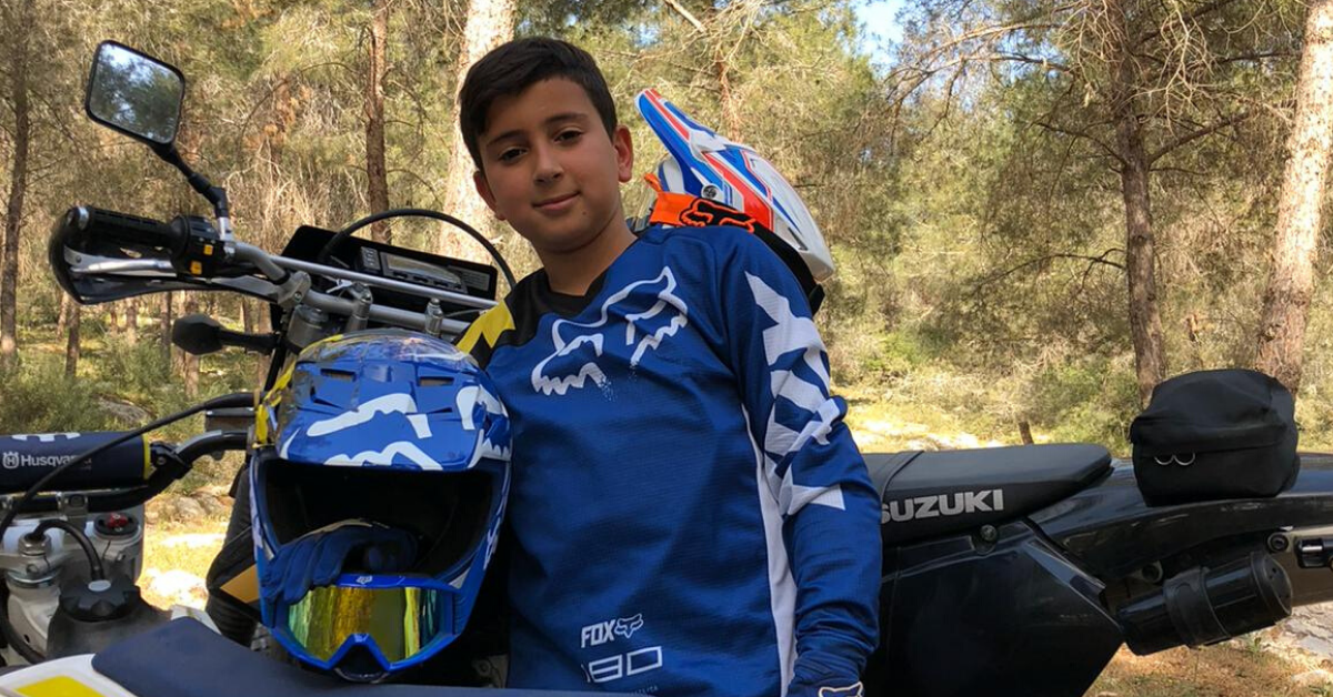 האופנוען הצעיר בקריות אלרואי אברג'ל