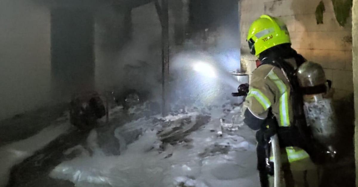 אש פרצה במבנה בקרית אתא