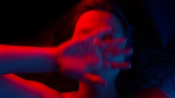 אישה זועקת