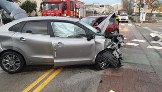 תאונה בשדרות ירושלים פינת סאלד בקרית ים