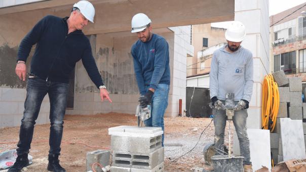 בנייה בקריות גם בתקופת הקורונה, מרץ 2020