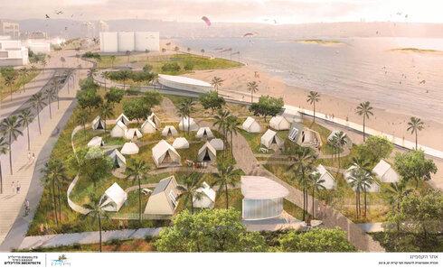 מתחם אוהלים בקרית ים