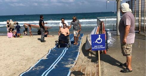 הנגשה חוף קרית חיים. צילום: דוברות עיריית חיפה