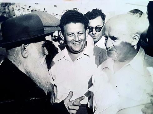בן גוריון והסב, אברהם רוגצ'בסקי | צילום ורפרודוקציה: נחום סגל