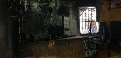 שריפה בדירה בקרית ביאליק. צילום: פרטי